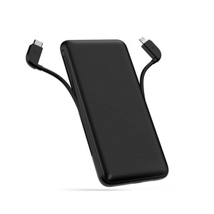 HyperJuice 18W 10000mAh Battery Pack — USB-C battery pack for iPhone with integrated 18W Lightning to USB-C cable.