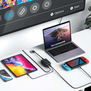 HyperDrive 60W USB-C Power Hub for Nintendo Switch — Power & Connect Nintendo Switch or any USB-C Device to USB-A and 4K HDMI TV/Display