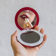 Pearl 3000mAh — LED Ring Compact Mirror & USB Battery