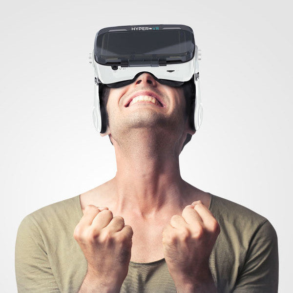 HyperVR Virtual Reality Headset + 3D Headphones — for iPhone & Android  Smartphones