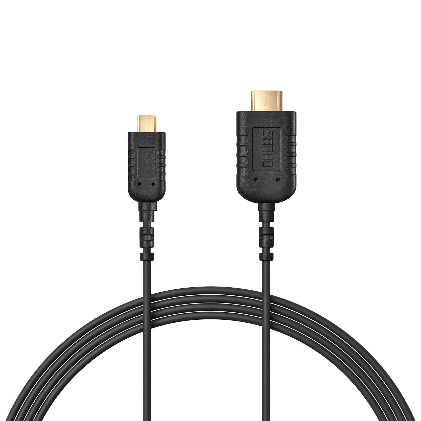 HyperThin Micro to Mini HDMI (0.8m) — World's thinnest & most flexible 4K Micro HDMI to Mini HDMI cable.