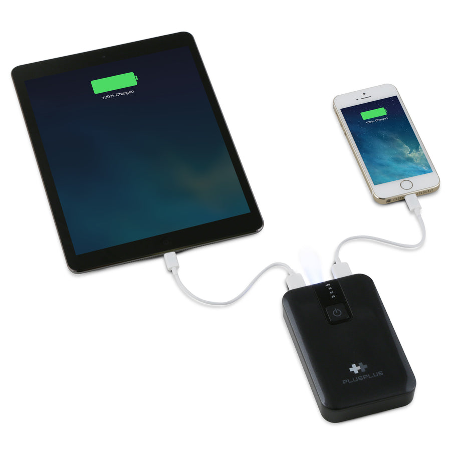 PlusPlus PowerBar 12000mAh USB Battery Pack (Black)
