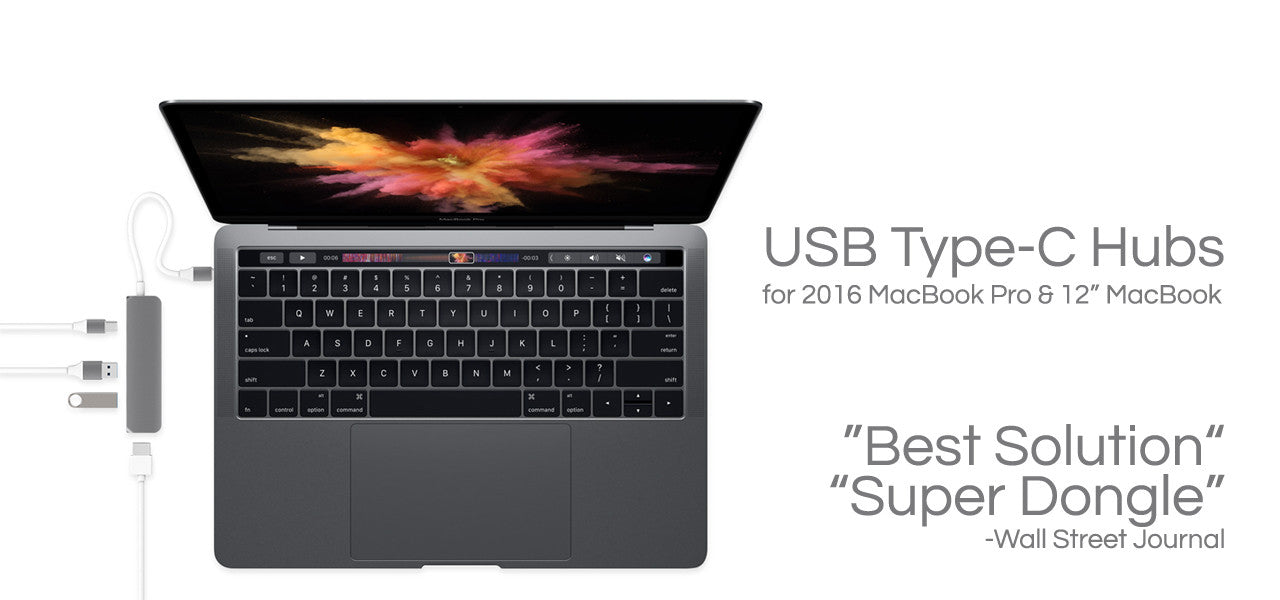 "USB Type-C Hubs for 2016 MacBook Pro & 12"" MacBook"