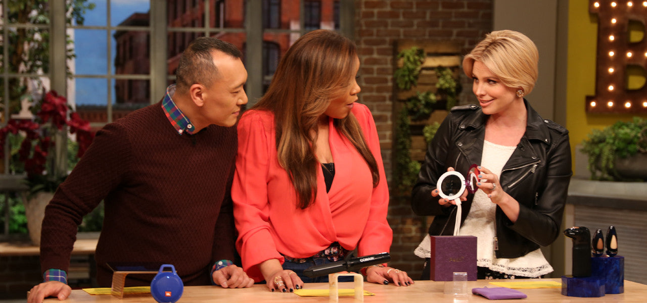Pearl Compact Mirror USB Battery featured on FABLife TV Talk Show
