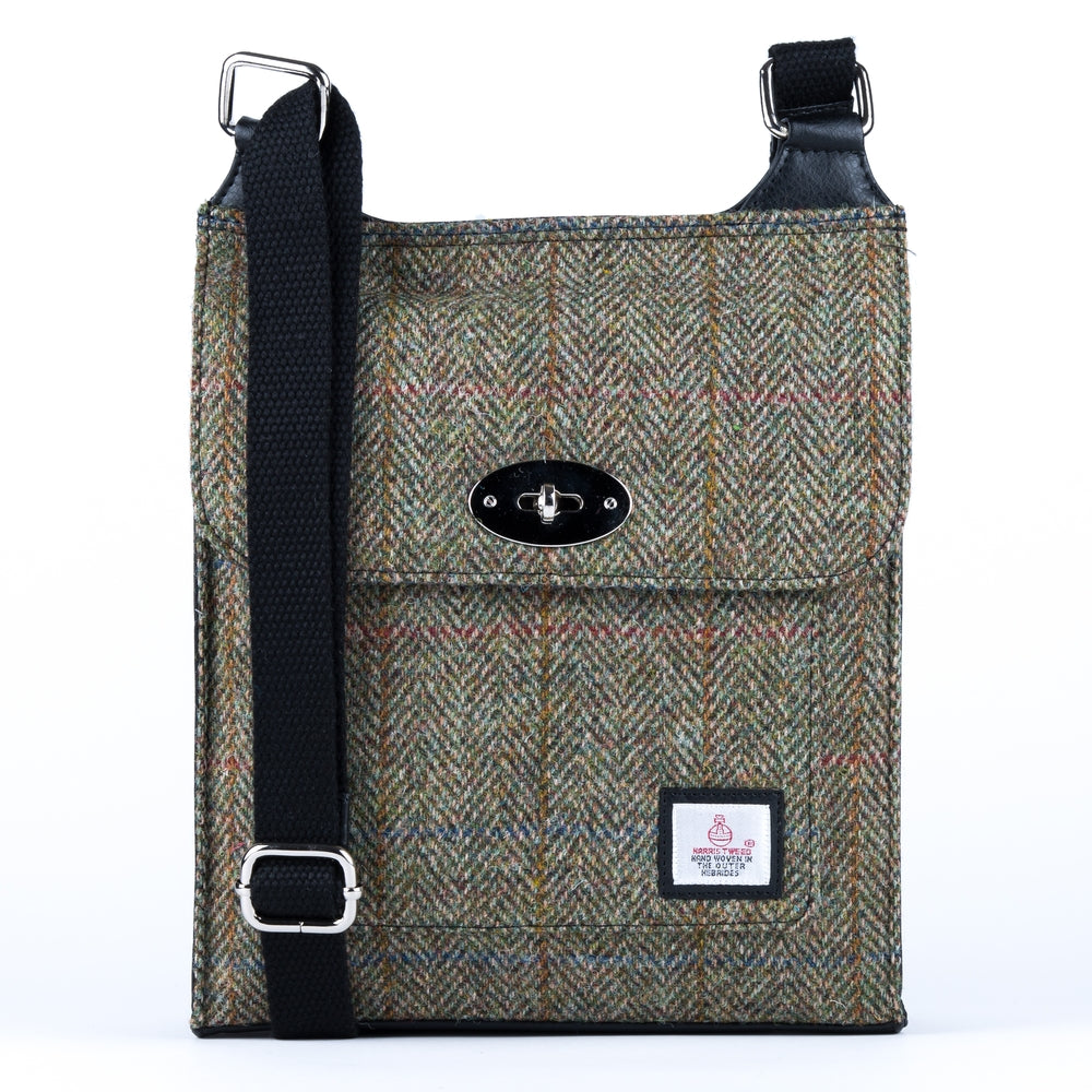 Harris Tweed - Satchel Bag - Moss Green