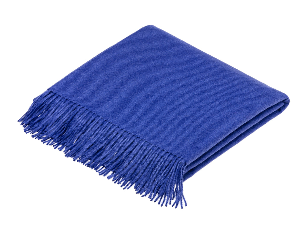 Alpaca Throw Blanket Midnight Blue