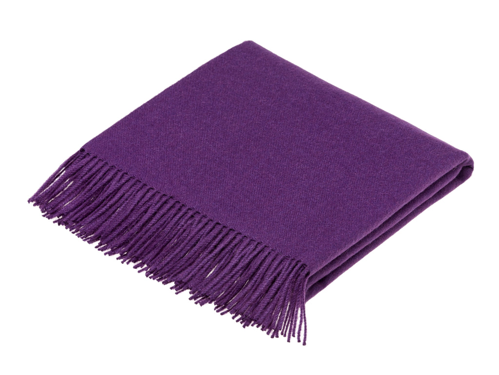 plain purple throw blanket made from alpaca by bronte moon