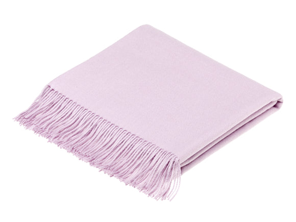 plain pastel pink throw blanket made from alpaca, bronte moon