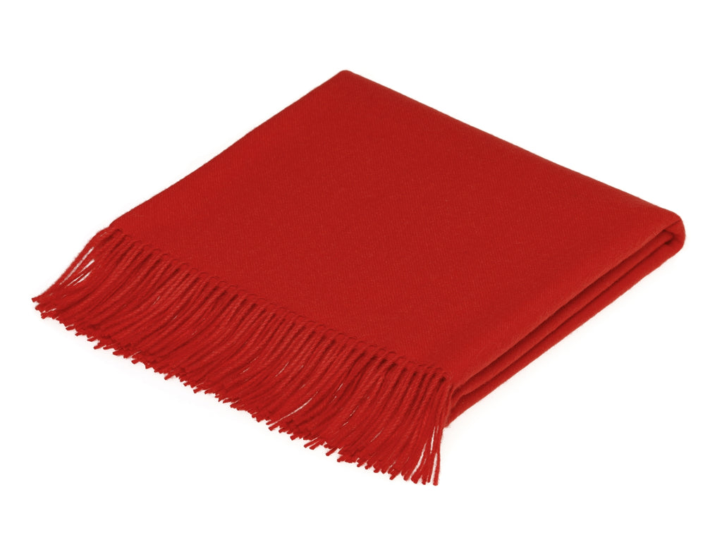 plain red throw blanket made from alpaca by bronte moon