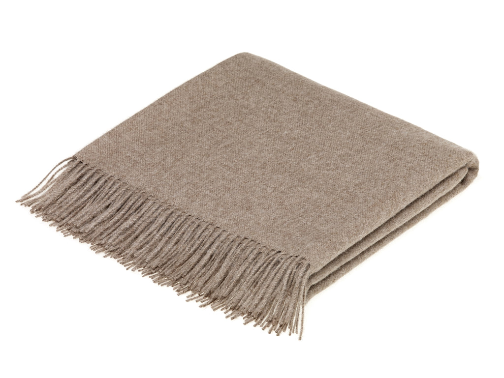 Alpaca Throw/Blanket - Plain - Natural Brown