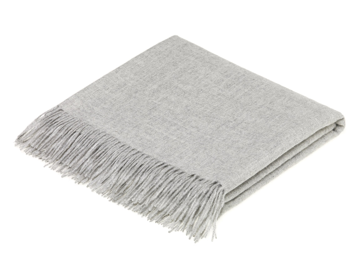 plain gray throw blanket made from alpaca by bronte moon