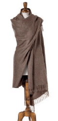 plain light brown wrap or shawl made from alpaca, bronte moon