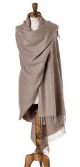 large light brown wrap or shawl made from alpaca, bronte moon