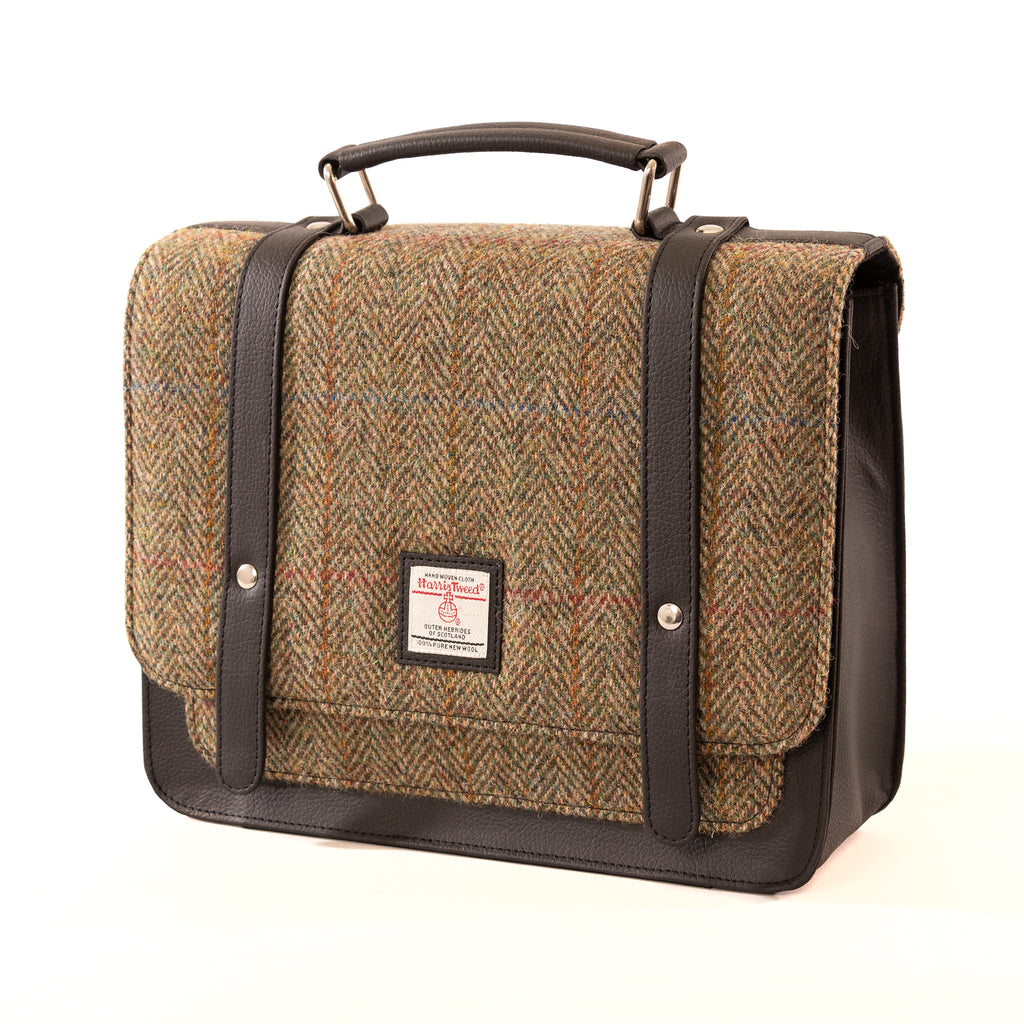 Harris Tweed - Mini Messenger Bag - Moss Green