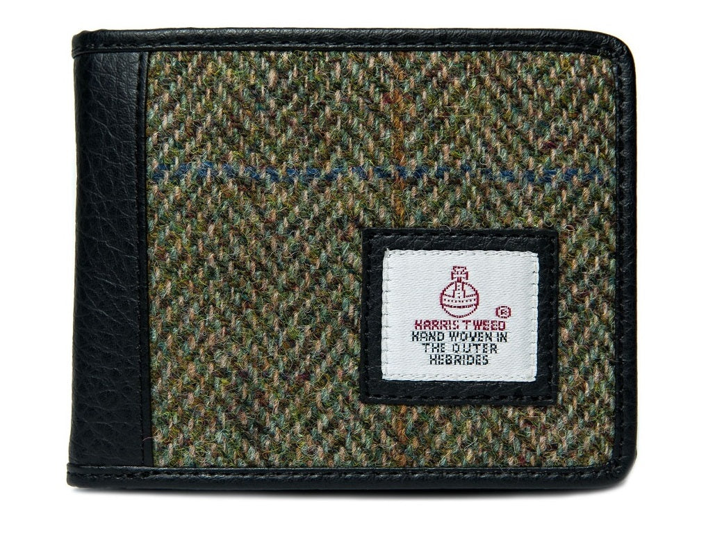 Harris Tweed - Bi-fold Wallet - Moss Green - Unisex