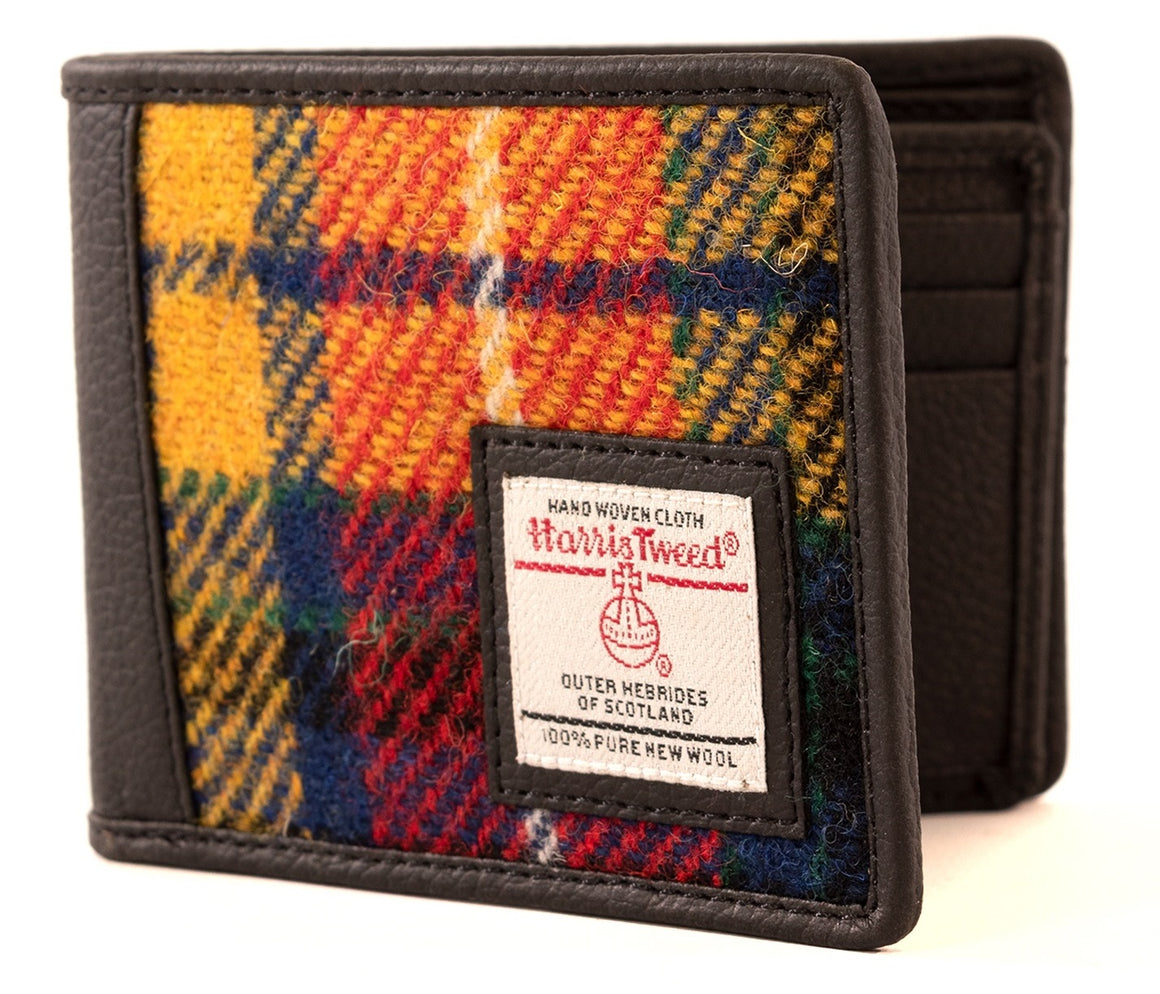 Harris Tweed - Bi-fold Wallet - Saffron - Bronte Moon
