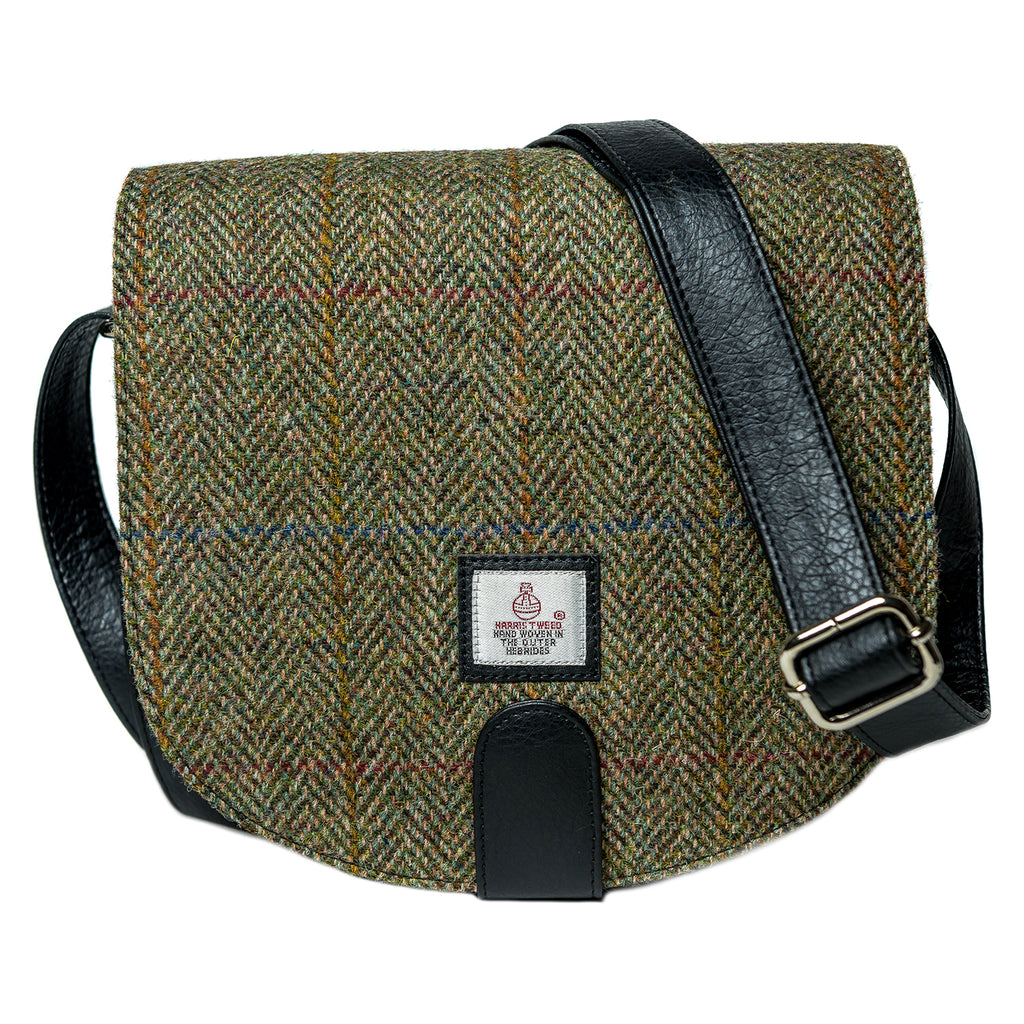 Harris Tweed - Small Cross Body Bag - Moss Green