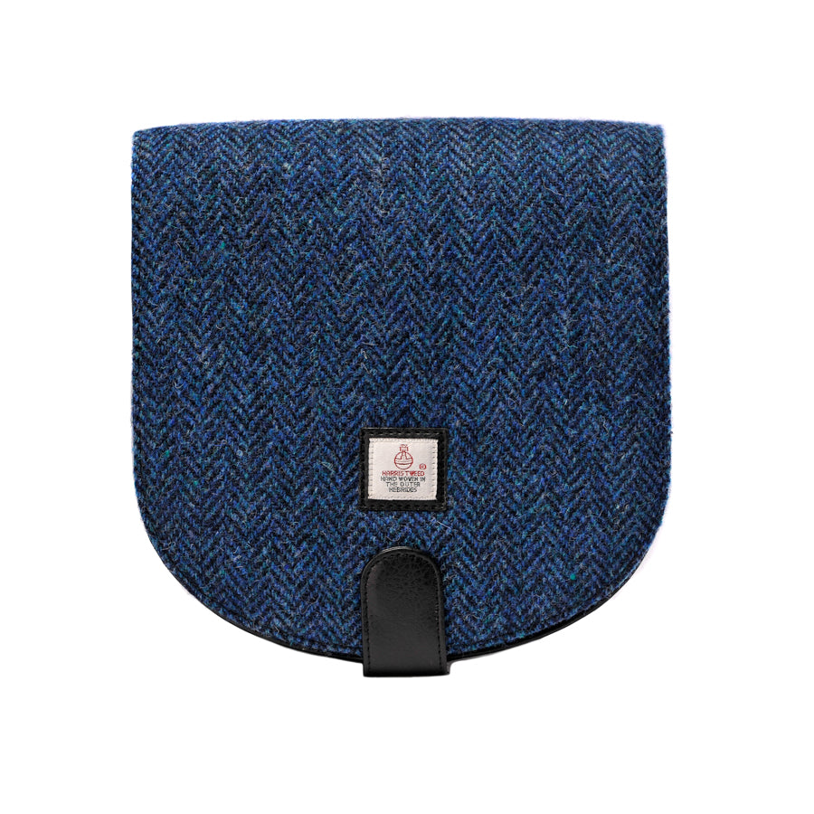 Harris Tweed - Small Cross Body Bag - Herringbone Blue
