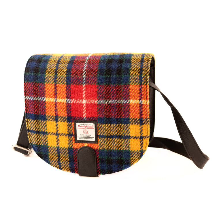 Harris Tweed - Small Cross Body Bag - Saffron