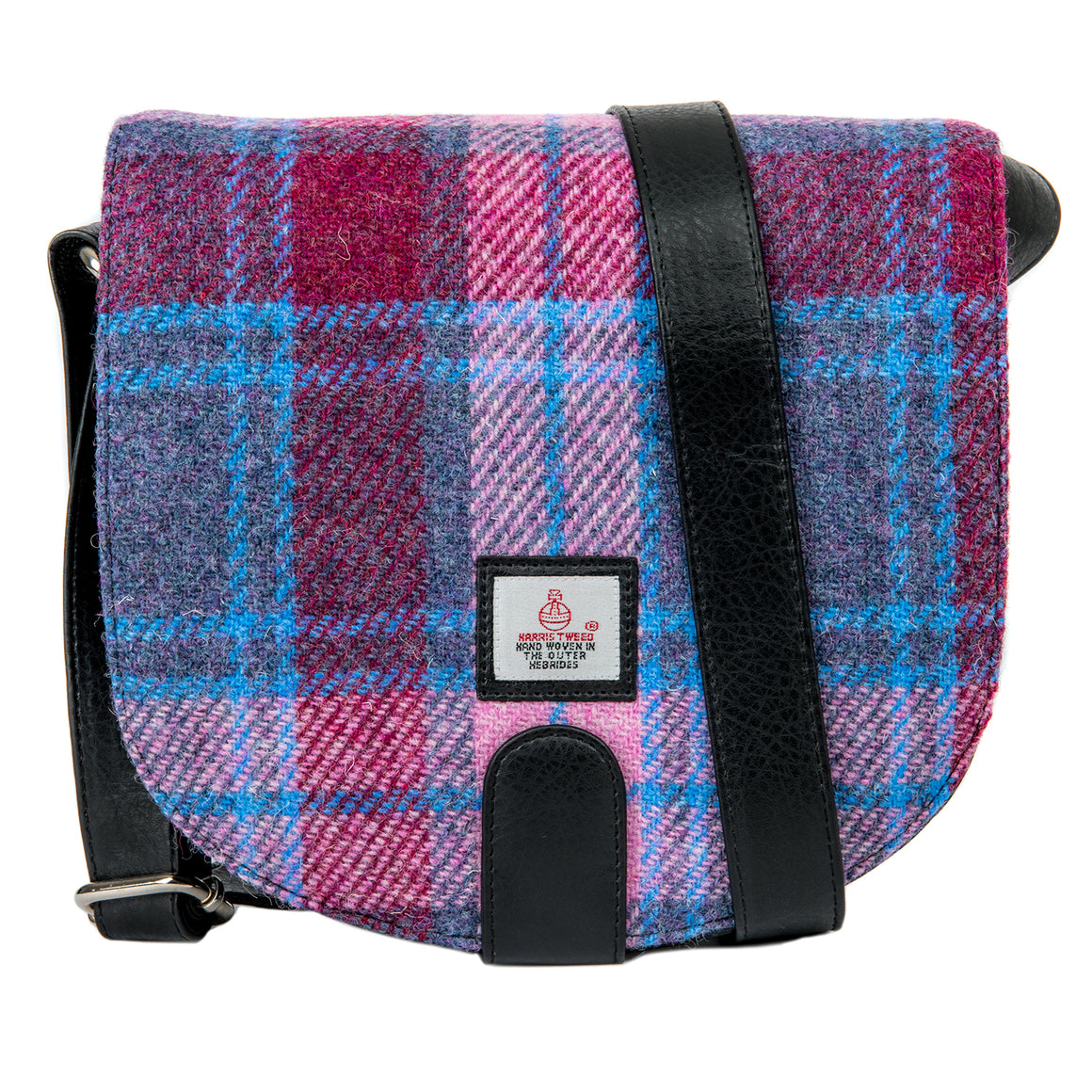 Harris Tweed - Small Cross Body Bag - Pastel Pink