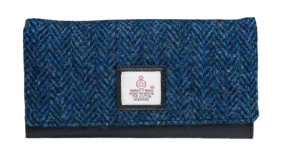 Harris Tweed - Ladies Envelope Purse - Blue