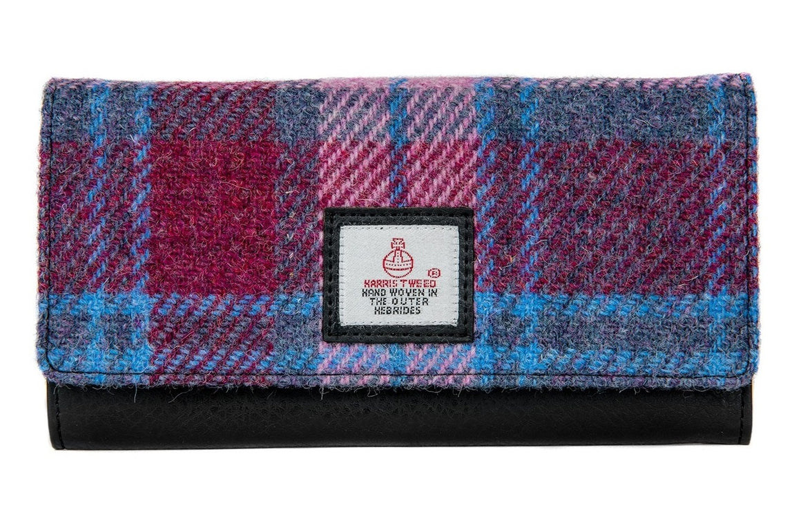 Harris Tweed - Ladies Envelope Purse - Pastel Pink