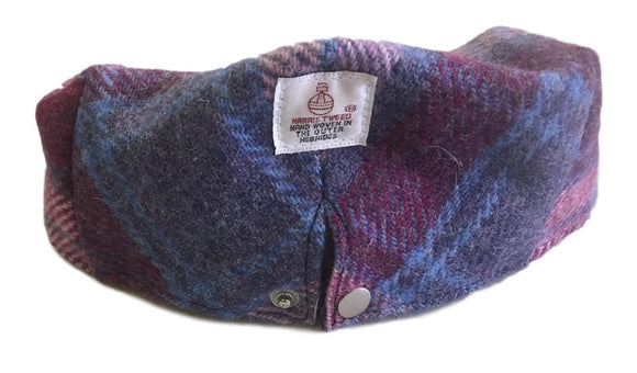 Harris Tweed Plaid Flat Cap Hat - Pastel Pink - Unisex - Bronte Moon