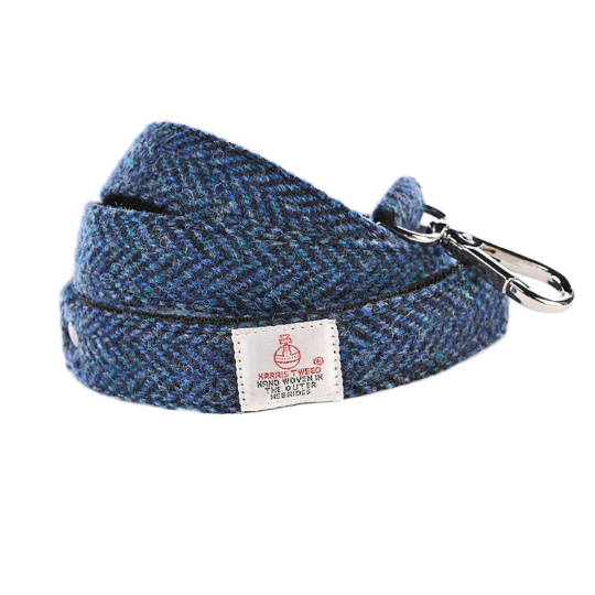 Copy of Harris Tweed - Dog Lead - Blue