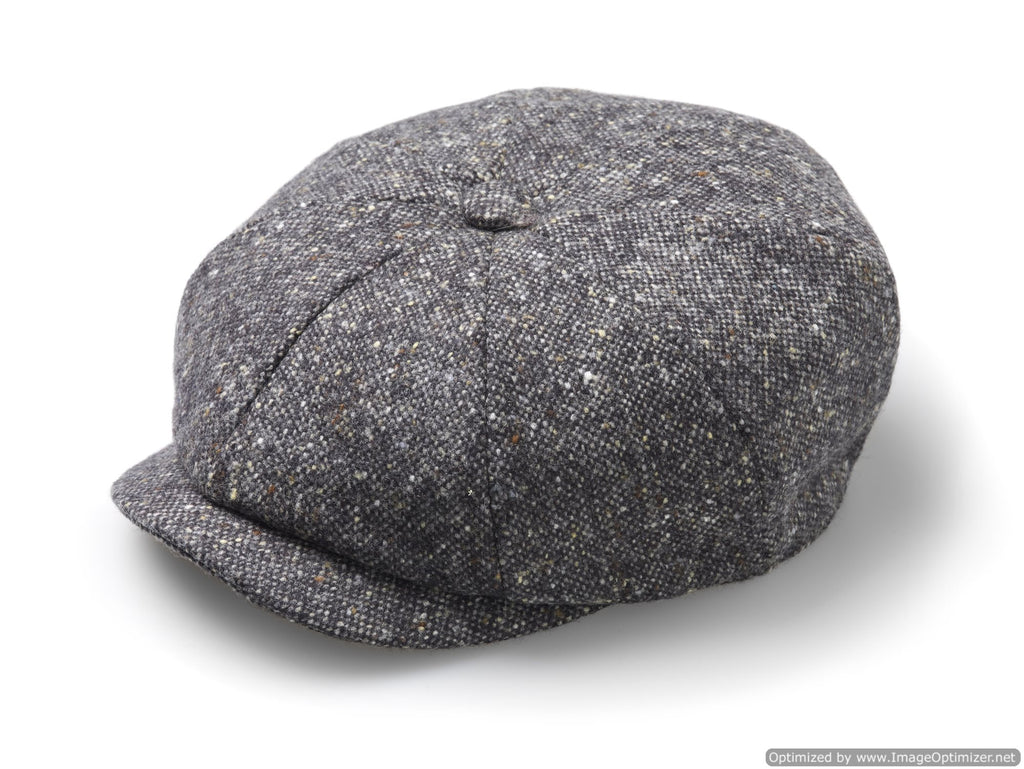 Baker Boy Cap - Unisex - Newsboy Cap / Hat - Fleck - Charcoal, Made in England