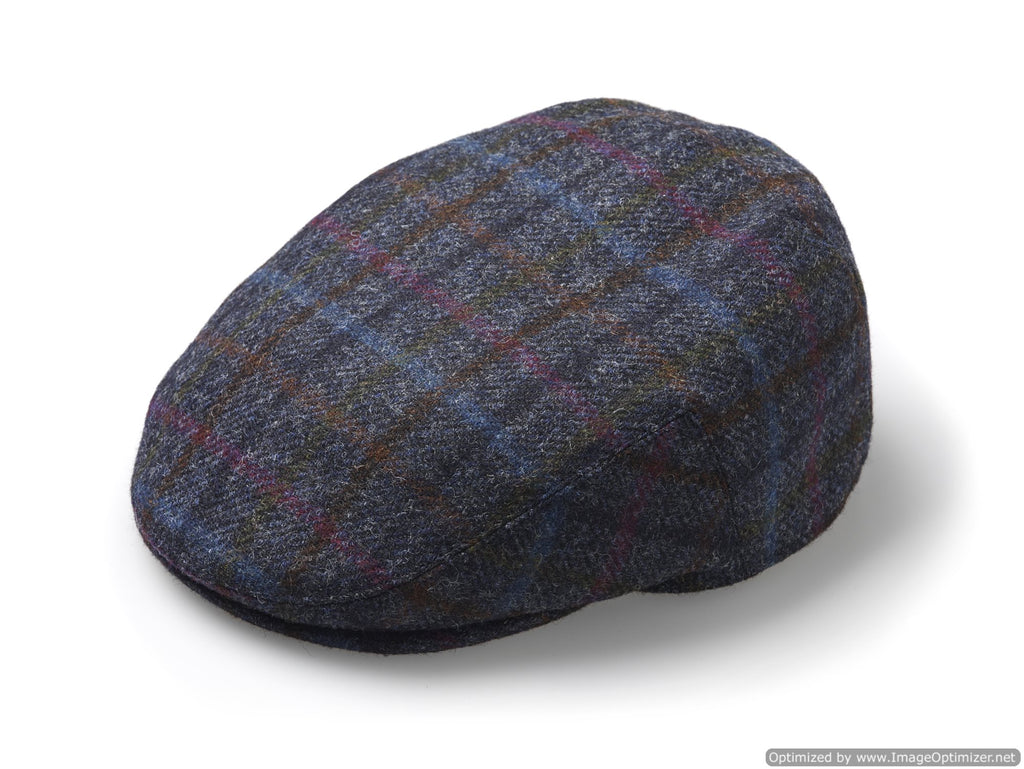 Flat Cap - Multicheck - Navy - Unisex - Made in England