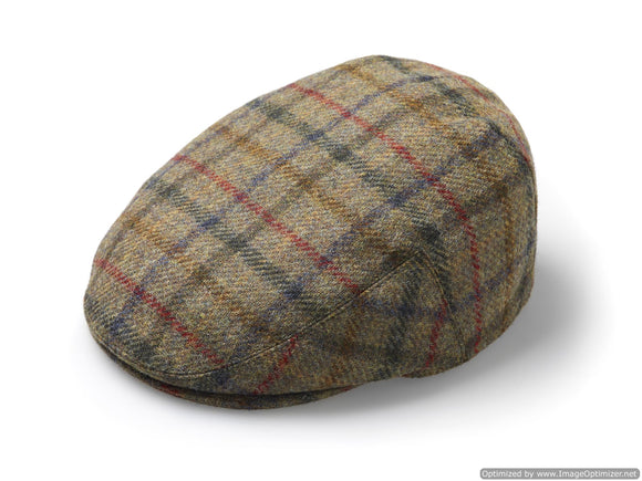 Flat Cap - Multicheck - Moss - Unisex - Made in England