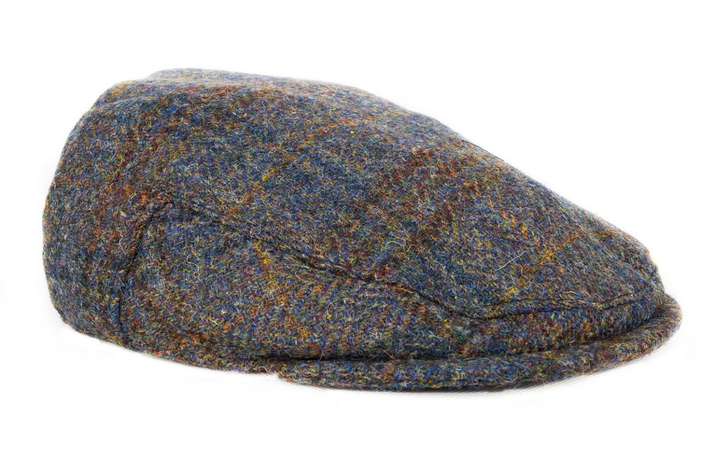 Harris Tweed Plaid Flat Cap Hat - Dark Sage - Unisex - Bronte Moon