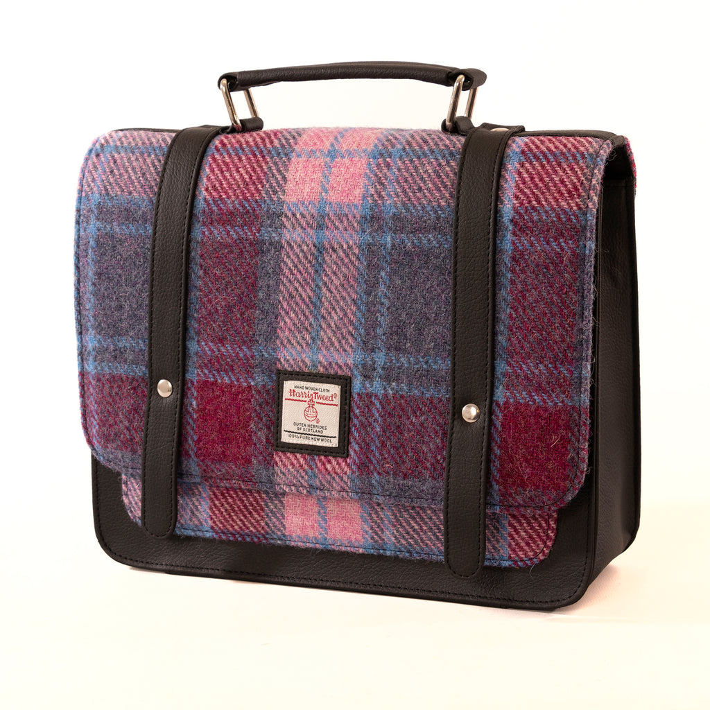 Harris Tweed - Mini Messenger Bag - Pastel Pink