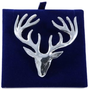 Lady Ann of Glencoe - Pin Collection - Large Plaid Brooch - Stags Head