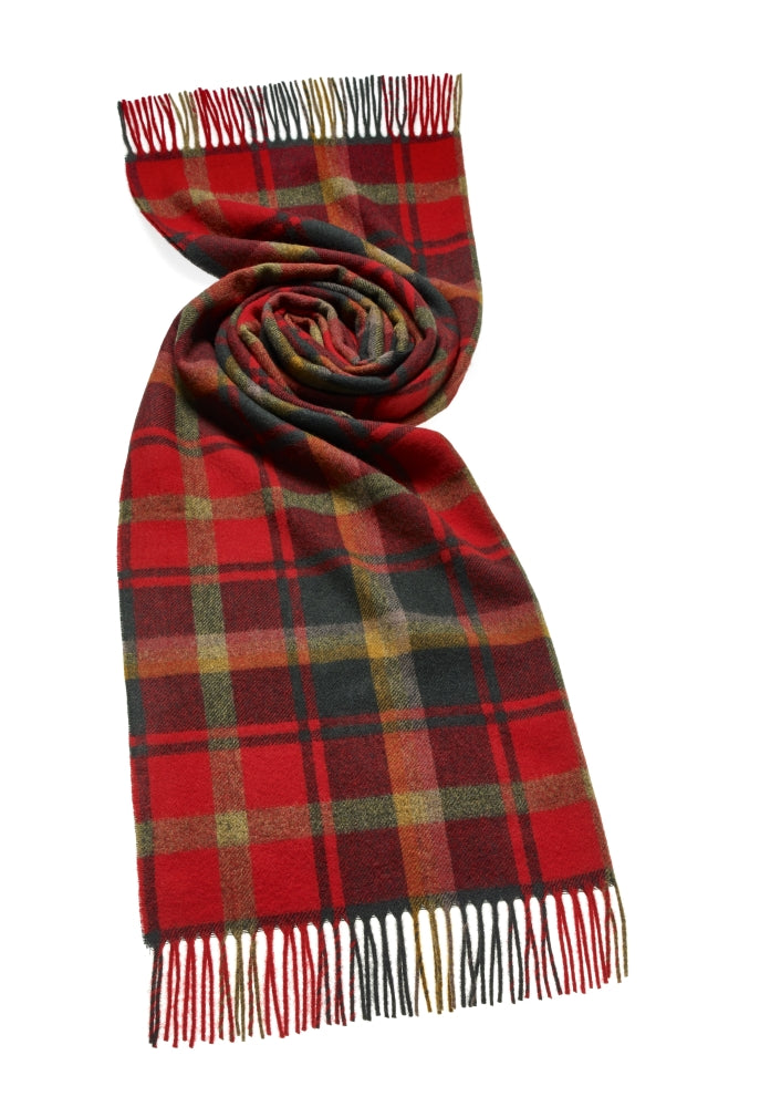 Blanket Scarf - Shawl - Stole - Wrap - Tartan - Dark Maple