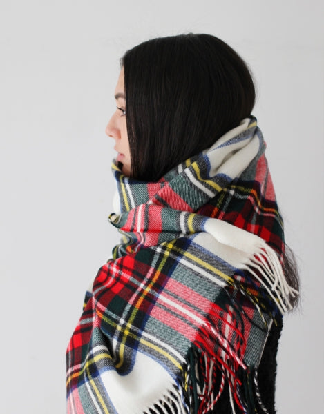 Blanket Scarf - Shawl - Stole - Wrap - Tartan - Dress Stewart