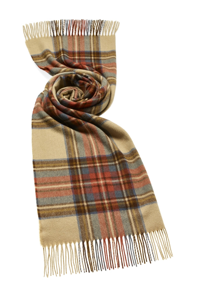 Blanket Scarf - Shawl - Stole - Wrap - Tartan - Antique Dress Stewart