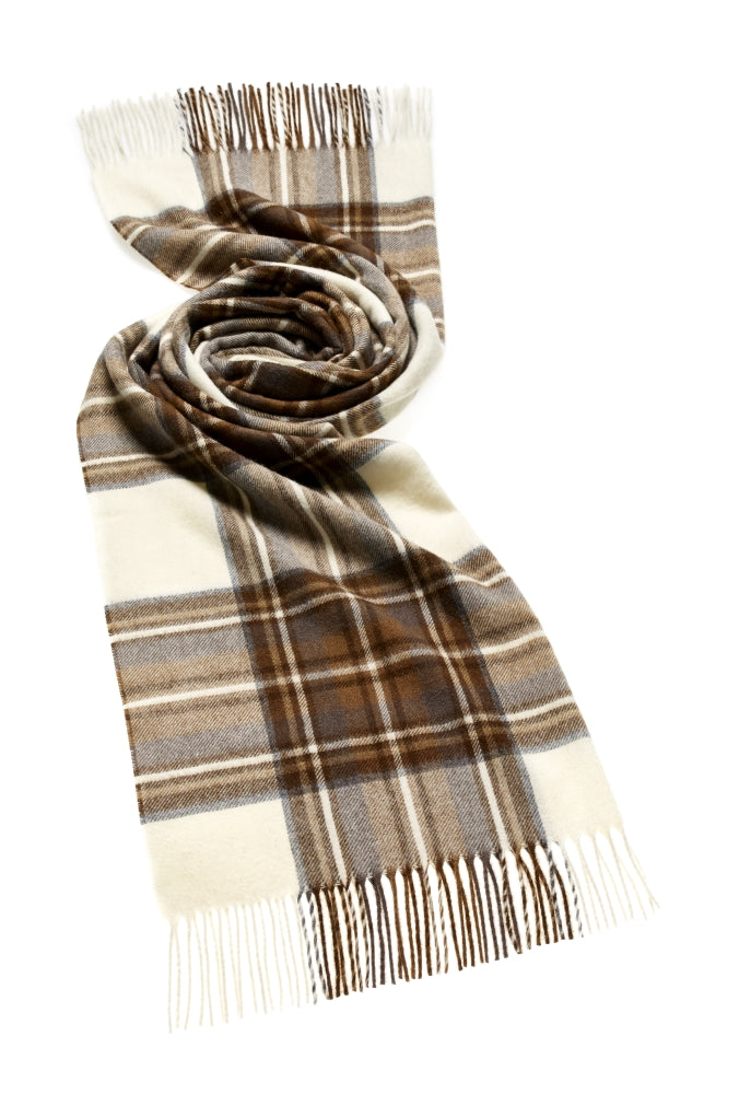 Blanket Scarf - Shawl - Stole - Wrap - Tartan - Natural Dress Stewart