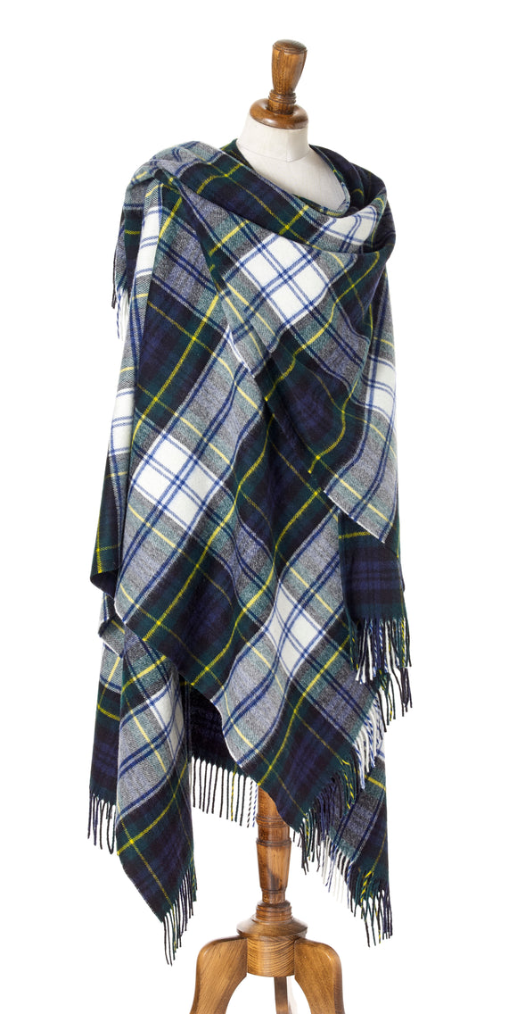 Bronte by Moon Full Size Ruana - Merino Lambswool - Tartan Dress Gordon