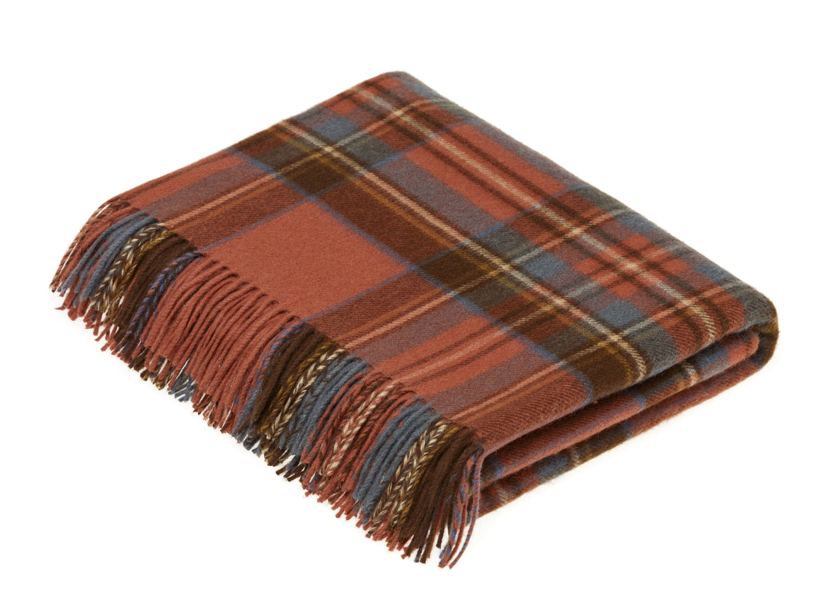 Tartan - Merino Lambswool -  Antique Royal Stewart - Throw Blanket