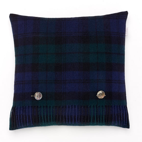 Merino Lambswool - Black Watch Tartan - Plaid Pillow - Merino Lambswool