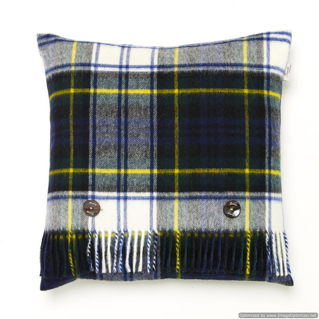 Merino Lambswool - Dress Gordon Tartan Plaid Pillow - Made in England