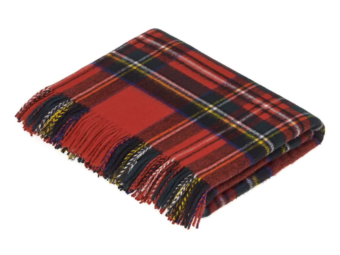 Tartan - Merino Lambswool - Royal Stewart - Throw Blanket