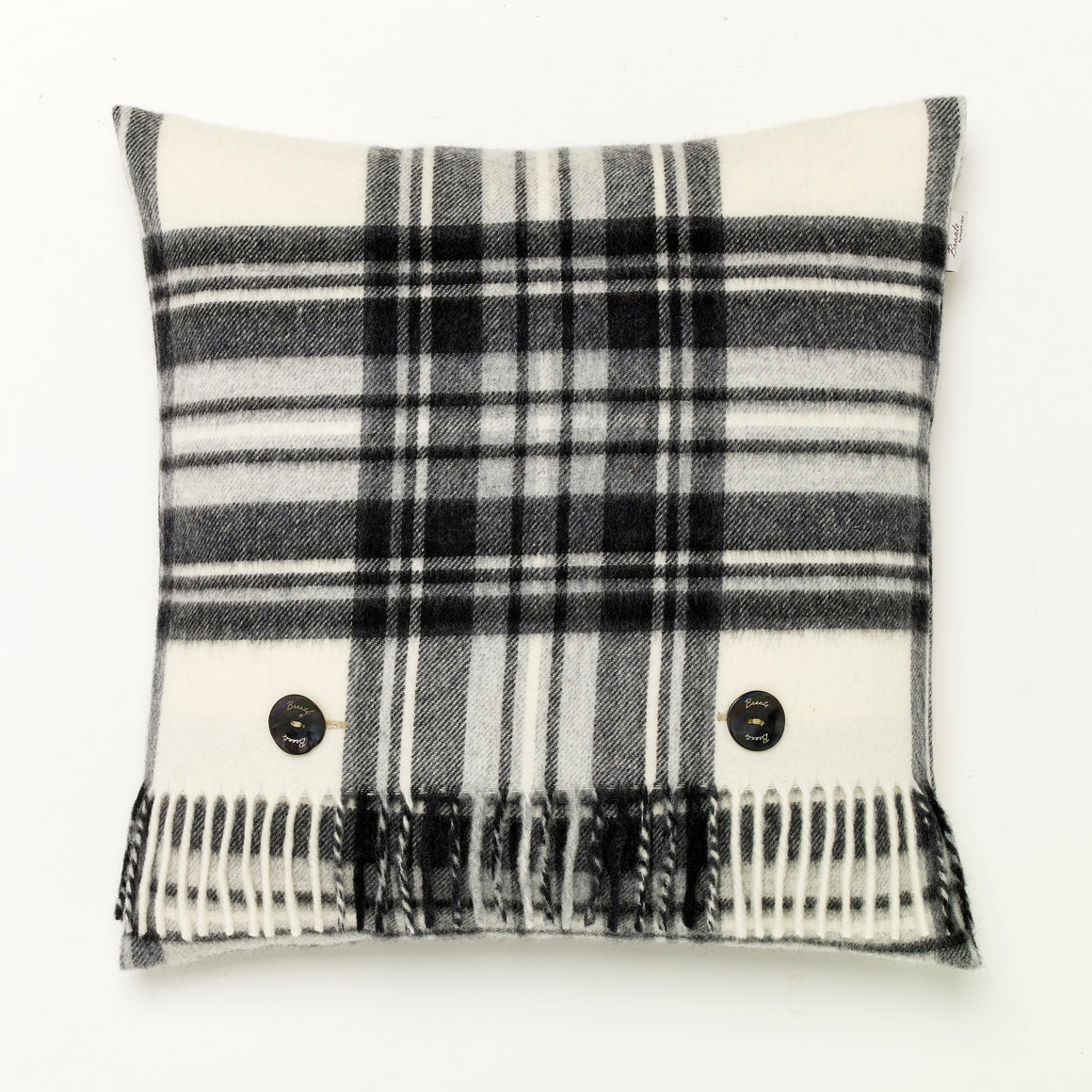 Merino Lambswool - Dress Gray Stewart Tartan - Plaid Pillow