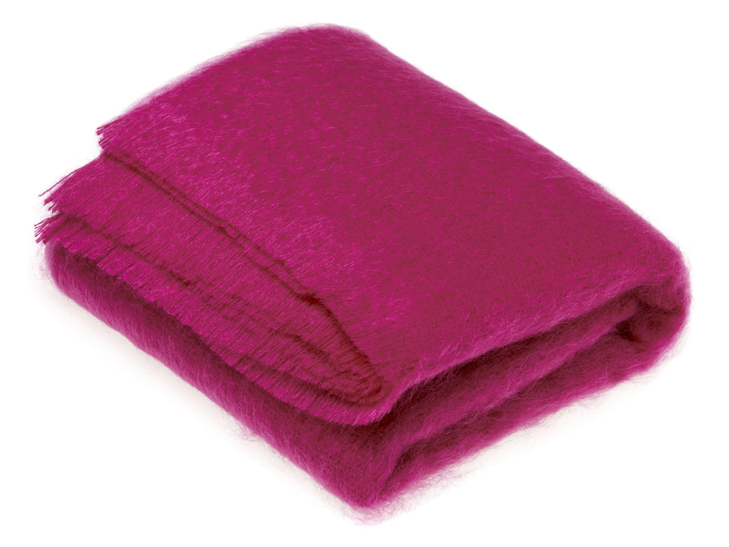Luxury Mohair Cactus Pink Throw