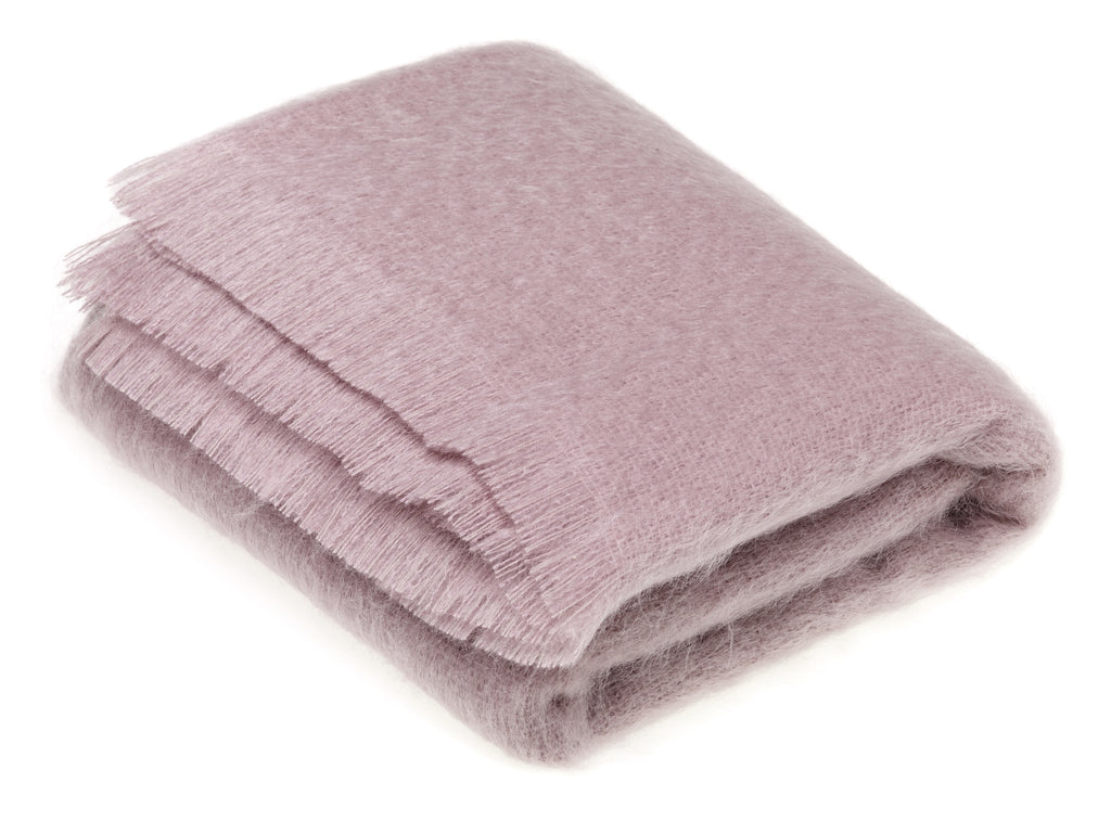 Luxury Mohair Dusky Pink Throw