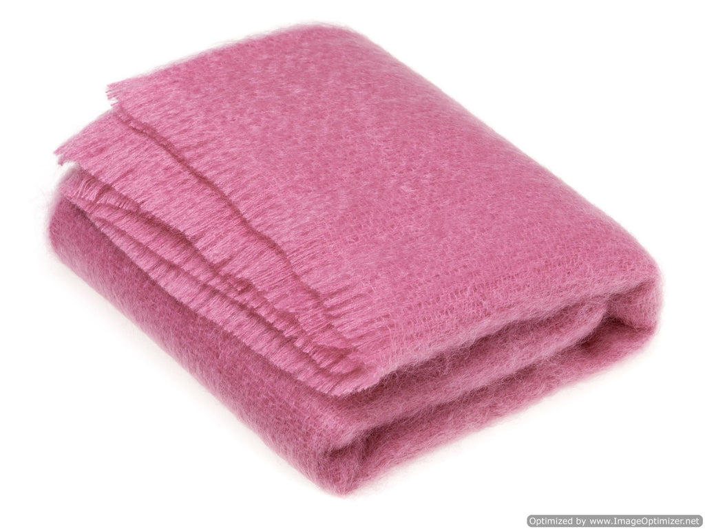 Luxury Mohair Throw Fuschia Pink