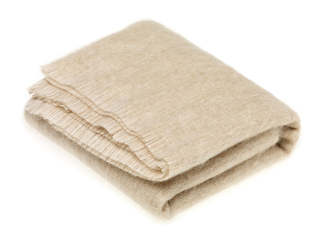 Luxury Mohair Blonde Throw