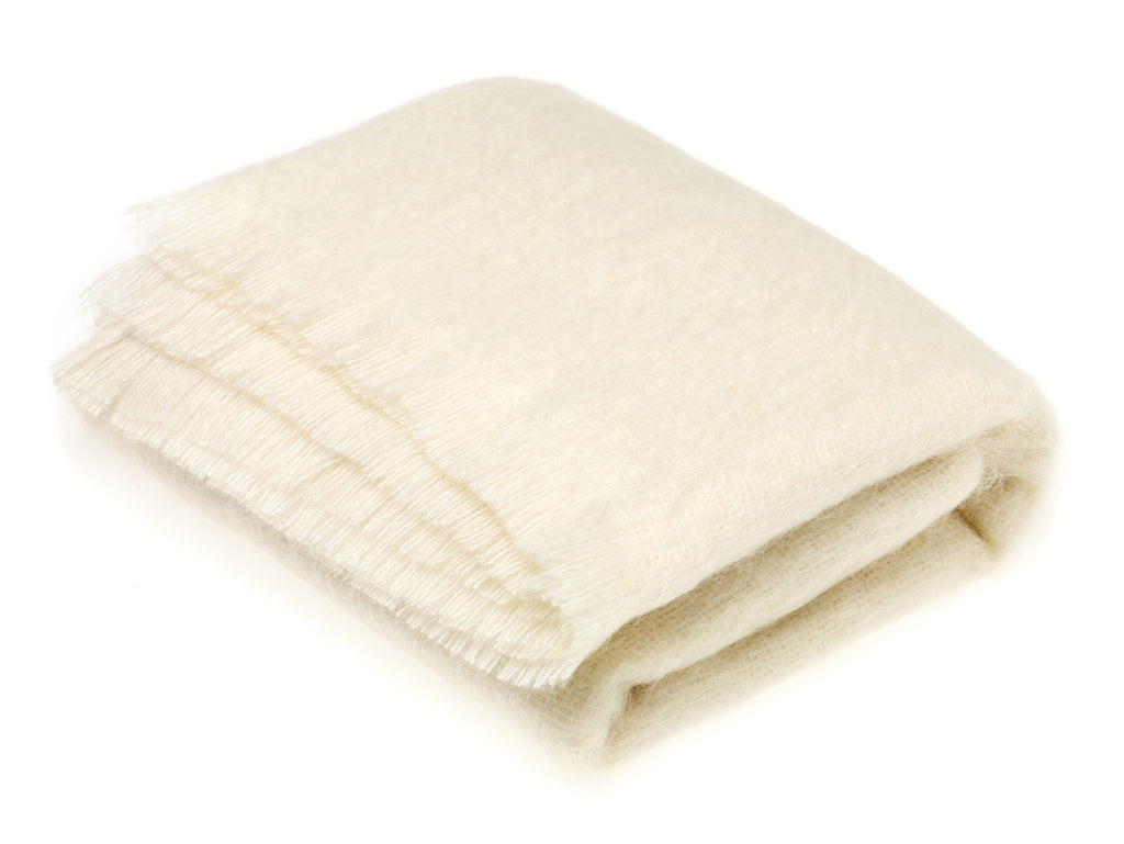 Luxury Mohair Natural Throw