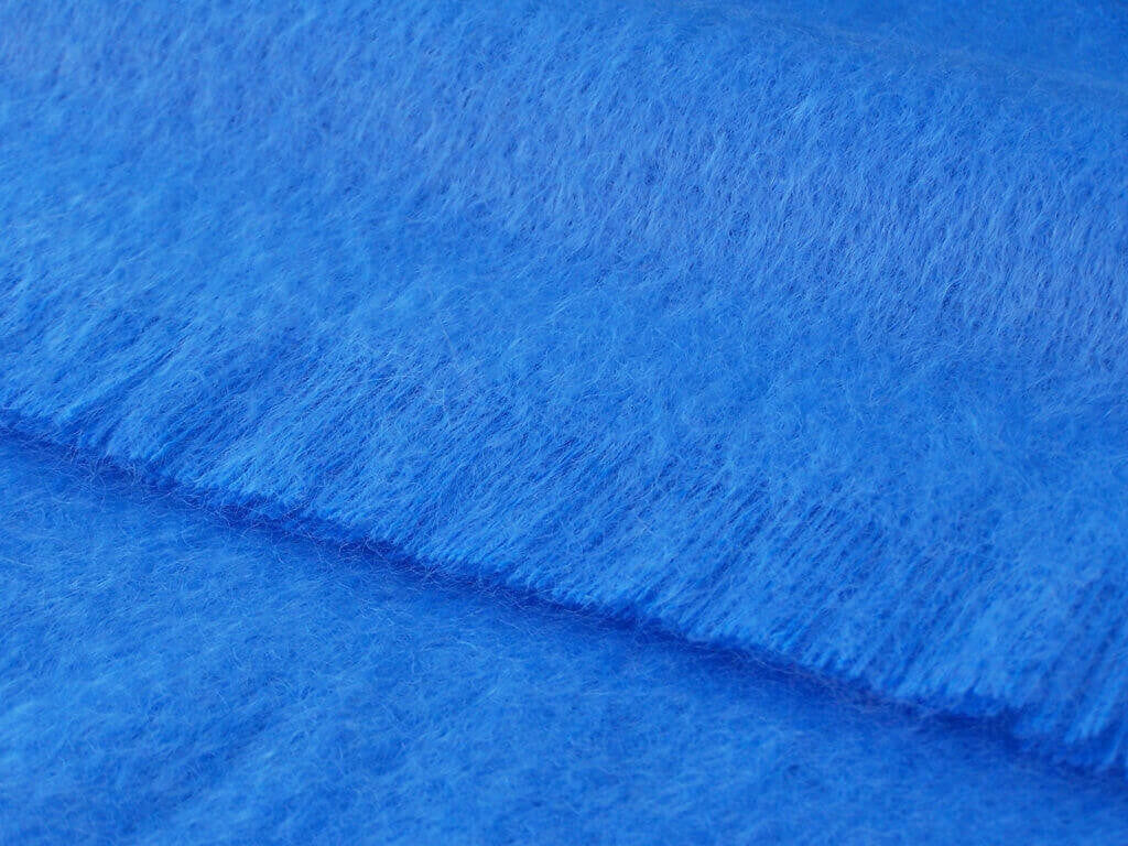 Luxury Mohair  Oceano Blue Throw